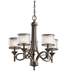 Kichler Lacey Collection Chandelier 5 Light in Mission Bronze