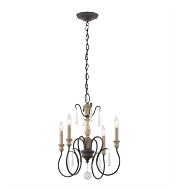 Kichler 43615WZC Kimberwick 4 Light Chandelier in Weathered Zinc