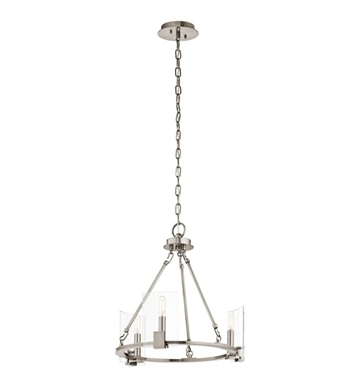 Kichler 43700CLP Signata 3 Light Mini Chandelier With Finish: Classic Pewter
