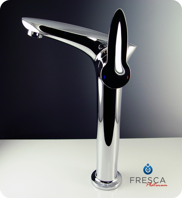 Fresca Platinum Fft3202ch Rienza Single Hole Vessel Mount Bathroom Faucet In Chrome