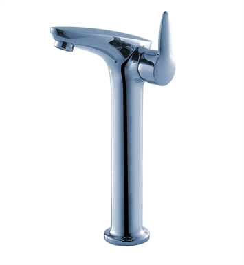 Fresca Platinum FFT3202CH Rienza Single Hole Vessel Mount Bathroom Faucet in Chrome