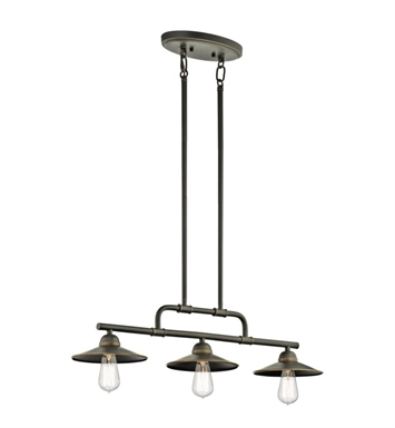 Kichler 49588OZ Westington 3 Light Outdoor Chandelier in Olde Bronze