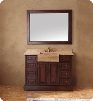 "James Martin 206-001-5172 Boston 48"" Single Sink Bathroom Vanity in Cherry Finish"