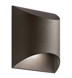 Kichler 49278AZTLED Wesly 1 Light LED Outdoor Wall Light in Textured Architectural Bronze