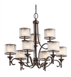 Kichler Lacey Collection Chandelier 9 Light in Mission Bronze