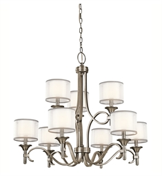 Kichler Lacey Collection Chandelier 9 Light in Antique Pewter