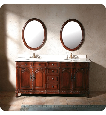 "James Martin 206-001-5503 Palais 72"" Double Sink Bathroom Vanity with Creme Marble Top in Dark Cherry Finish"