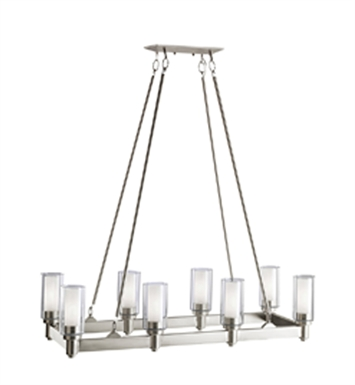 Kichler 2943OZ Circolo Collection Chandelier Linear 8 Light With Finish: Olde Bronze