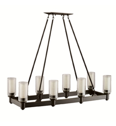 Kichler 2943OZ Circolo Collection Chandelier Linear 8 Light in Olde Bronze
