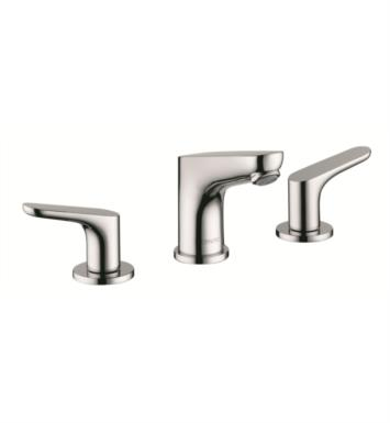 "Hansgrohe 04369 Focus 100 5 1/8"" Double Handle Widespread/Deck Mounted Bathroom Faucet with Pop-Up Assembly"