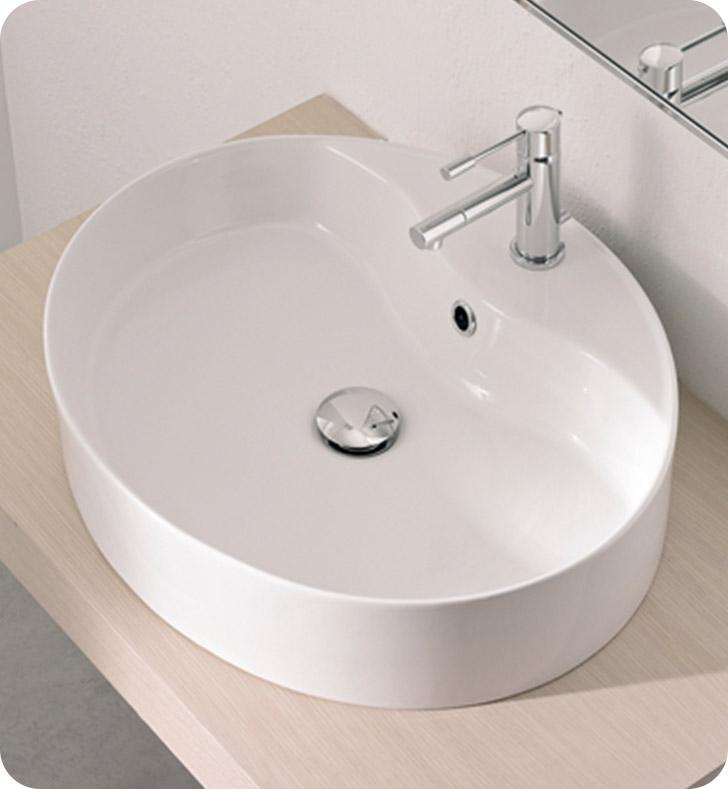 Nameeks 8030 r scarabeo bathroom sink for Nameeks bathroom sinks