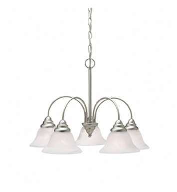 Kichler 2076NI Telford Collection Chandelier 5 Light in Brushed Nickel