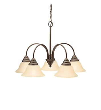 Kichler 2076OZ Telford Collection Chandelier 5 Light in Olde Bronze