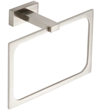 "Atlas Homewares AXTRBRN 7-7/8"" Towel Ring from the Axel Collection With Finish: Brushed Nickel"