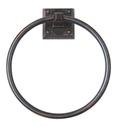 "Atlas Homeware 7-5/8"" CRATR-VB Towel Ring from the American Arts and Crafts Collection"