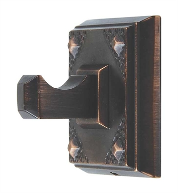"Atlas Homewares CRASH-VB 2-1/8""  Robe Hook from the American Arts and Crafts Collection With Finish: Venetian Bronze"