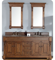 "James Martin 147-114-5771 Brookfield 72"" Double Bathroom Vanity in Country Oak Finish"