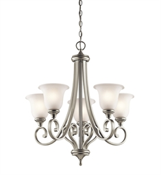 Kichler Monroe Collection Chandelier 5 Light in Brushed Nickel