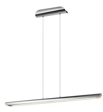 Elan Lighting 83596 Marv Pendant in Chrome Finish and Etched Acrylic Diffuser