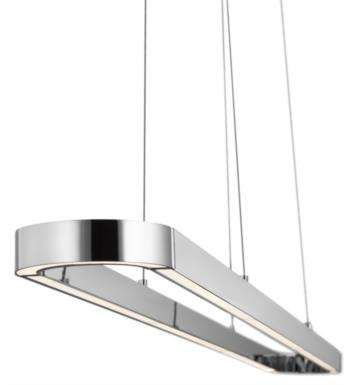 "Elan Lighting 83598 Quell 1 Light 61"" LED Linear Pendant in Chrome Finish"