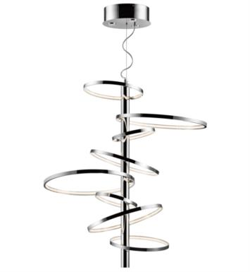 "Elan Lighting 83668 Sirkus 11 Light 38 1/4"" LED Cool White Ring Pendant Chrome Finish"