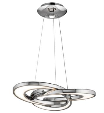 "Elan Lighting 83619 Destiny 4 Light 27 3/4"" LED Chandelier in Chrome Finish"