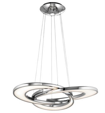 "Elan Lighting 83620 Destiny 4 Light 36"" LED Chandelier in Chrome Finish"