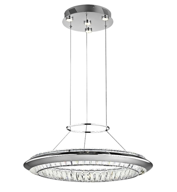 Elan Lighting 83621 Joez Pendant in Chrome Finish with Clear Crystals