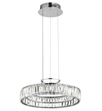"Elan Lighting 83624 Annette 1 Light 17 1/2"" LED Pendant in Chrome Finish"