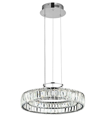 Elan Lighting 83624 Annette Pendant in Chrome Finish with Clear Crystals