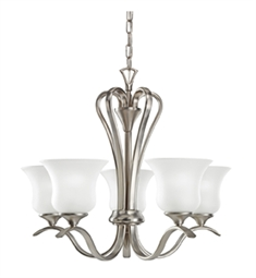 Kichler Wedgeport Collection Chandelier 5 Light in Brushed Nickel