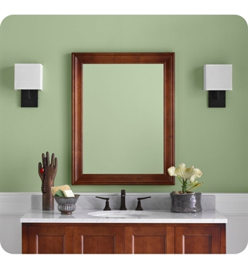 Ronbow 606127 f11 traditional 27 x 35 solid wood framed bathroom mirror with finish colonial for Cherry wood framed bathroom mirrors