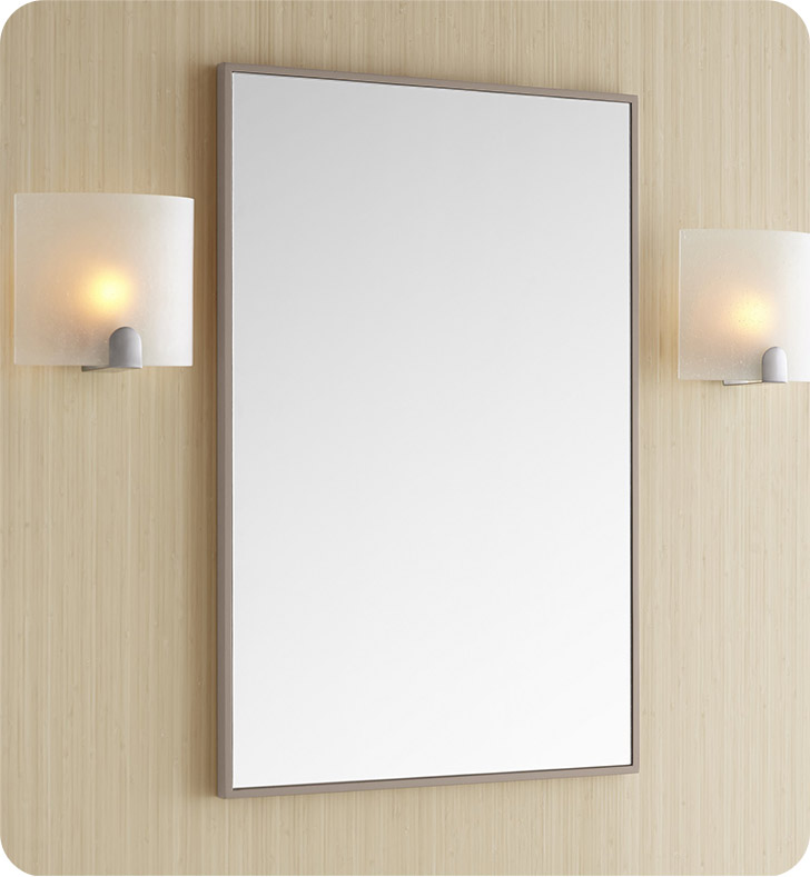 Ronbow 602322 e23 contemporary 23 x 30 solid wood framed - White wood framed bathroom mirrors ...