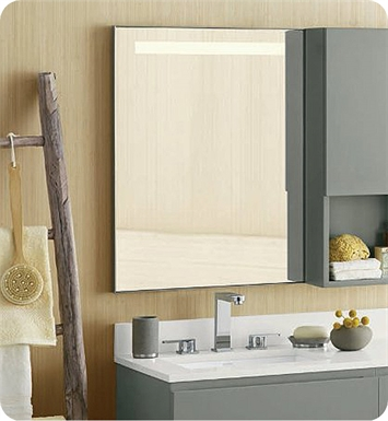 Ronbow 602523 bn contemporary 22x 30 metal framed Bathroom wall mirrors brushed nickel