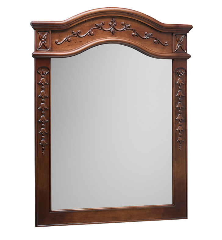 Ronbow 607230 F11 Bordeaux Traditional 30 X 38 Solid Wood Framed Bathroom Mirror In Colonial