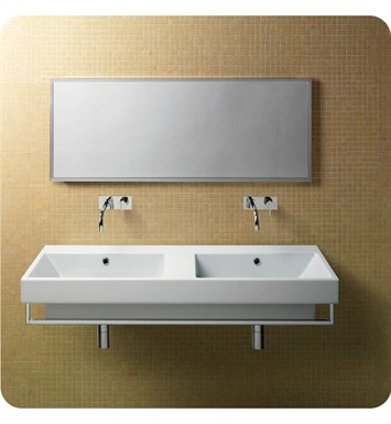 Catalano 1125ZE00-0 Zero 125 Double Sink Washbasin With Faucet Holes: No Hole