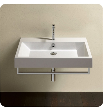Catalano 175ZE00-1 Zero 75 Single Sink Washbasin With Faucet Holes: Single Hole