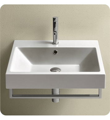 Catalano 16QZENE-2 Zero 60 Single Sink Washbasin With Finish: Black And Faucet Holes: Two Holes