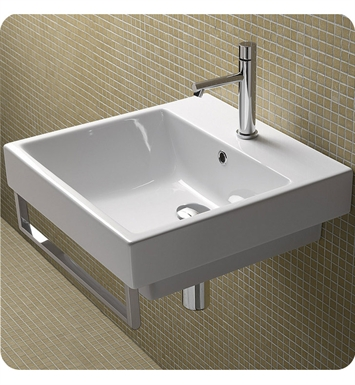 Catalano 15QZE00-3 Zero 50 Single Sink Washbasin With Faucet Holes: Three Holes
