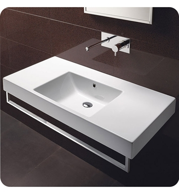 Catalano 110DO00-2 Zero Domino 100 Single Sink Washbasin With Faucet Holes: Two Holes