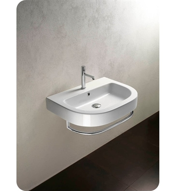Catalano 167ZE00-1 Zero Tondo 67 Single Washbasin With Faucet Holes: Single Hole