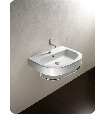 Catalano 162ZN00-1 Zero Tondo 62 Single Washbasin With Faucet Holes: Single Hole