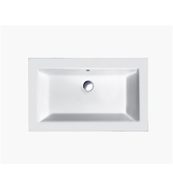 Catalano 158ST00-0 Star 58 Single Washbasin With Faucet Holes: No Hole