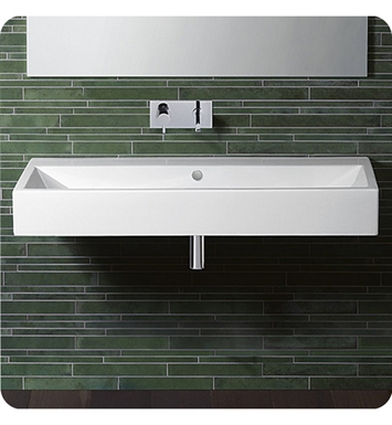 Catalano 112VE00-3 Verso 120 Single Washbasin With Finish: White And Faucet Holes: Three Holes