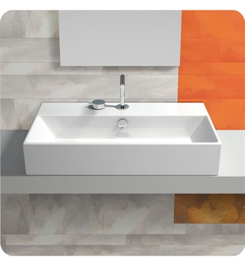 Catalano 170VN00-1 Verso 70 Single Washbasin Wall Hung With Finish: White And Faucet Holes: Single Hole