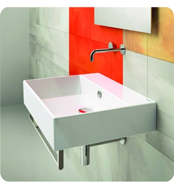 Catalano 155VN00-1 Verso 55 Single Washbasin Wall Hung With Faucet Holes: Single Hole
