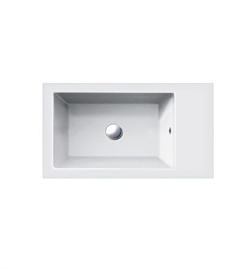 Catalano 165VE00-3 Verso 65 Single Washbasin With Faucet Holes: Three Holes