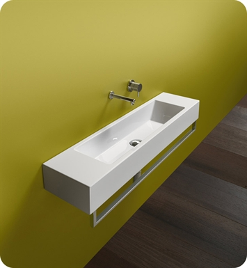 Catalano 1100VE00-1L Verso Venticinque 100 Single Washbasin With Faucet Holes: Single Hole on Left Side