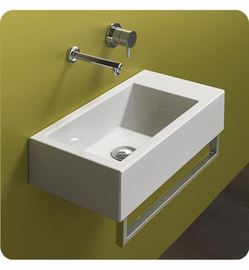Catalano 125VN00-1 Verso Venticinque 50 Single Washbasin With Faucet Holes: Single Hole
