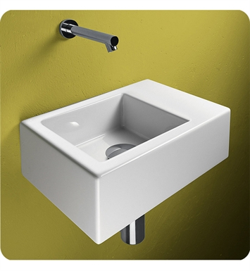 Catalano 135VE00-1 Verso Venticinque 35 Single Washbasin With Faucet Holes: Single Hole